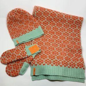 New VERLOOP Hat Scarf & Mitten 3pc Set Mohair Wool